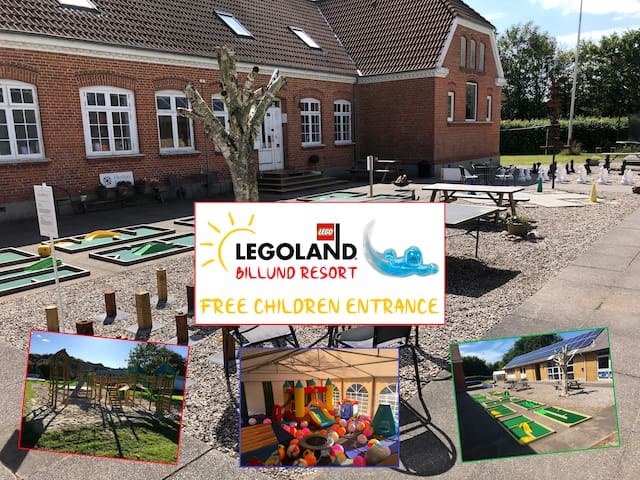 Family resort 6 person room - Close to LEGOLAND.