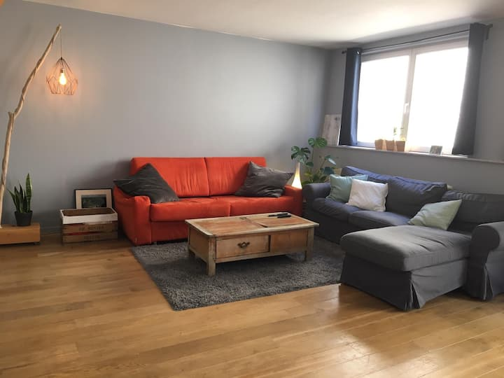 Room in Duplex apartment in Brussels City Center