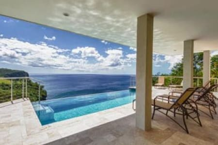 6 Bedroom villa with private infinity pool overlooking the bay and over the ocean - St. Lucia