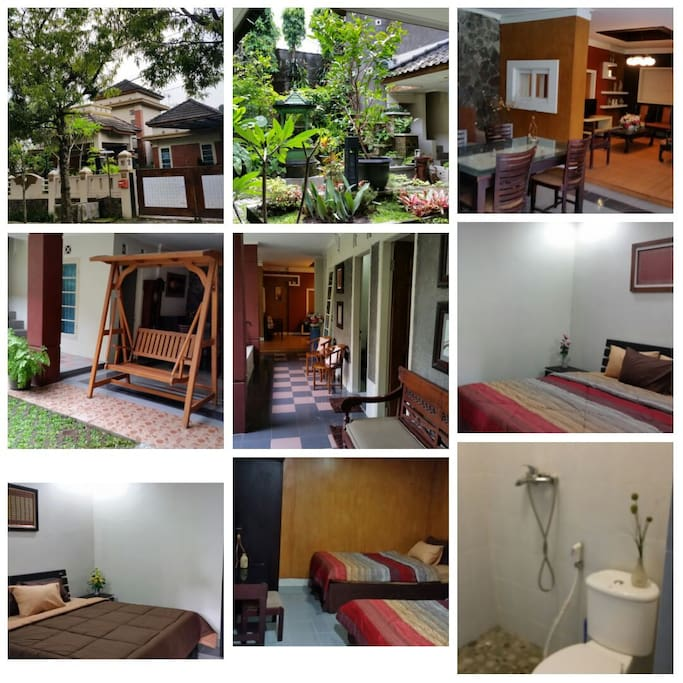 A collage pictures of the rented house (only the Lower Ground)