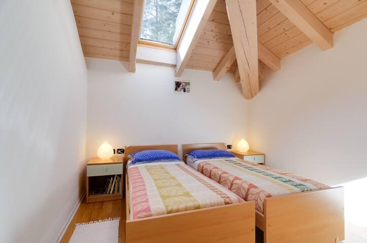 La stanza doppia con letti divisibili