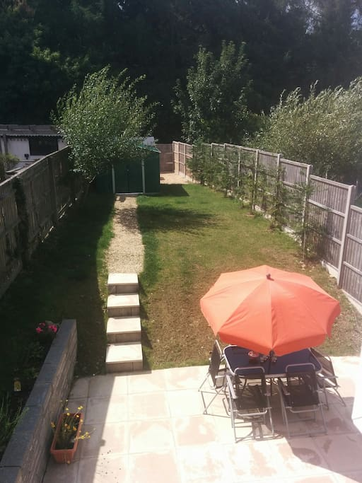 Rear garden backing on to the Forest of Dean. Rear access, double gates