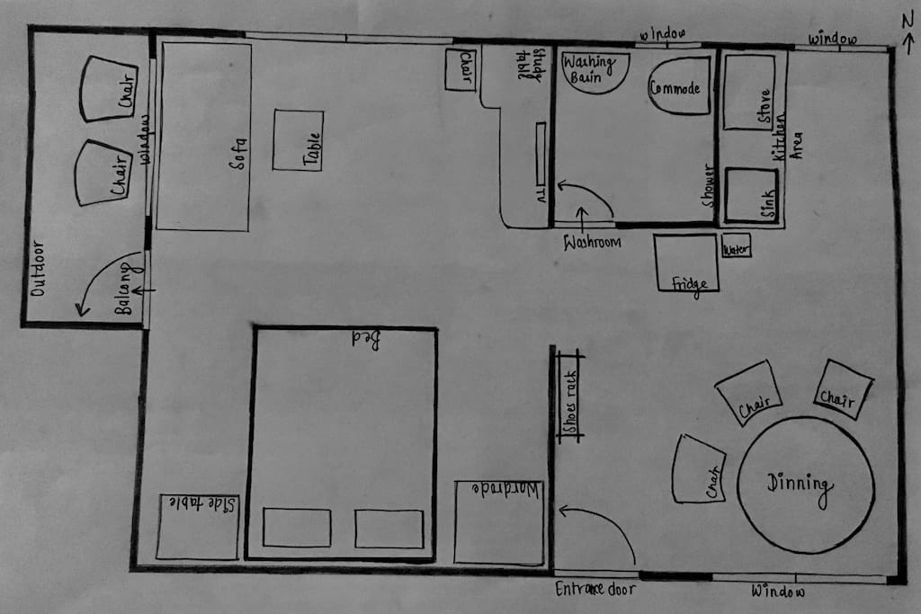 Sketch of apartment
