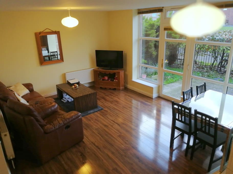 The lounge from our kitchen