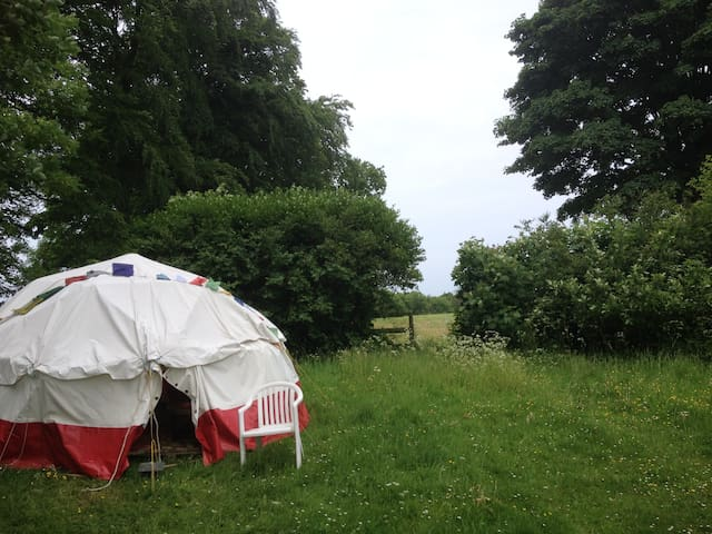 Geodesic Dome tent on the Cotswold Way, with stove - Gloucestershire - Yurt