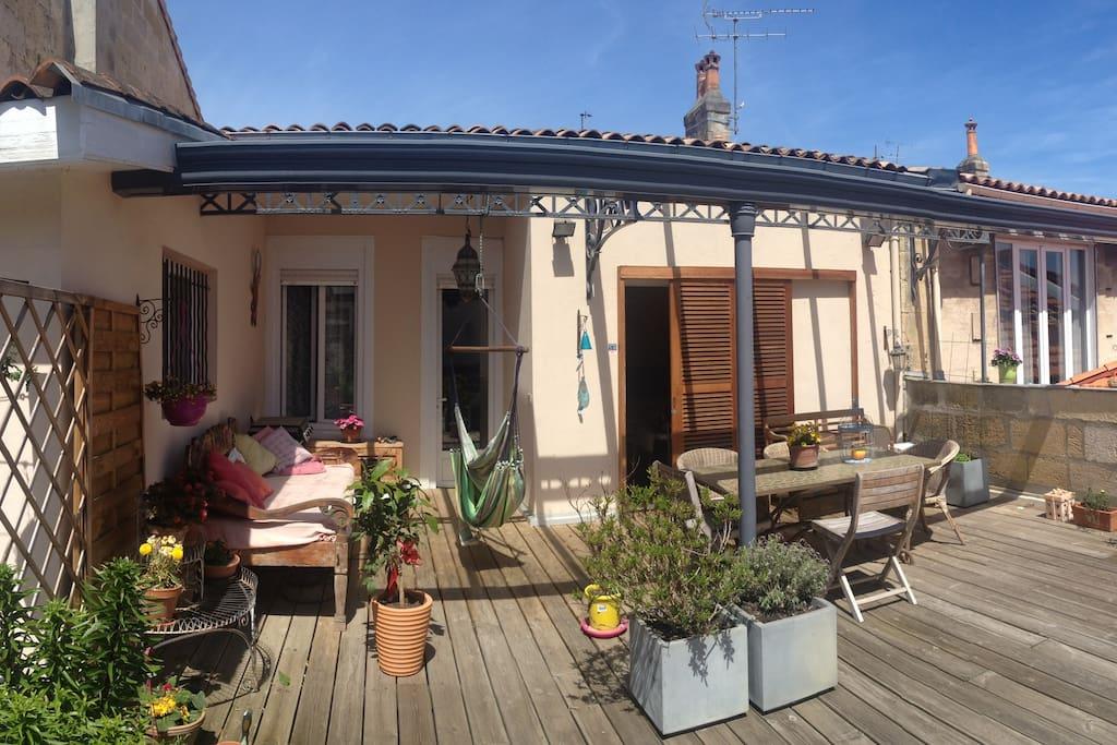 Vaste proche centre pkg ptt d j terrasse maisons for Location bordeaux terrasse