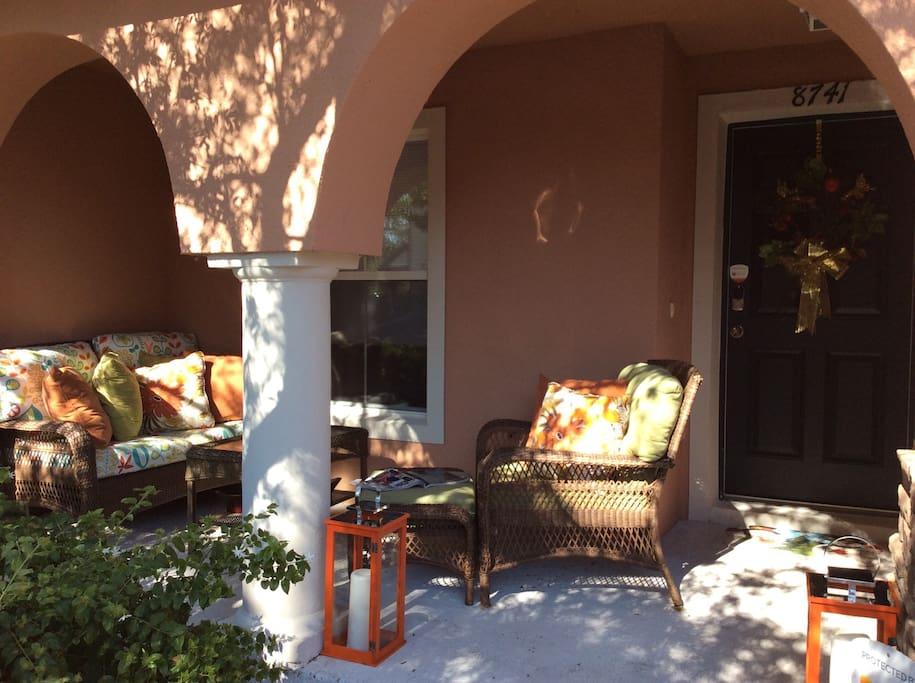 Front porch .