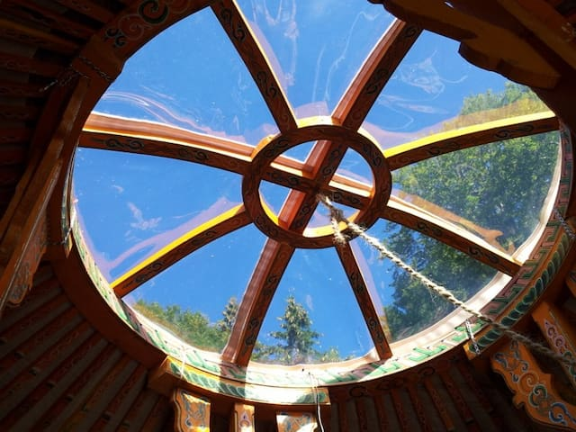 Heated yurt facing the Mont Blanc - Monnetier-Mornex - Yurt
