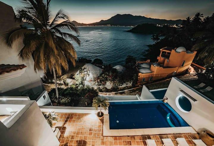 ¡House Silvia beautiful ocean view!