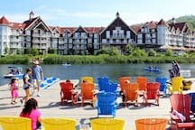 Check out all of all the great 4 season activities in The Village at Blue!  The village is just a free shuttle ride away or enjoy the walk on a beautiful day.