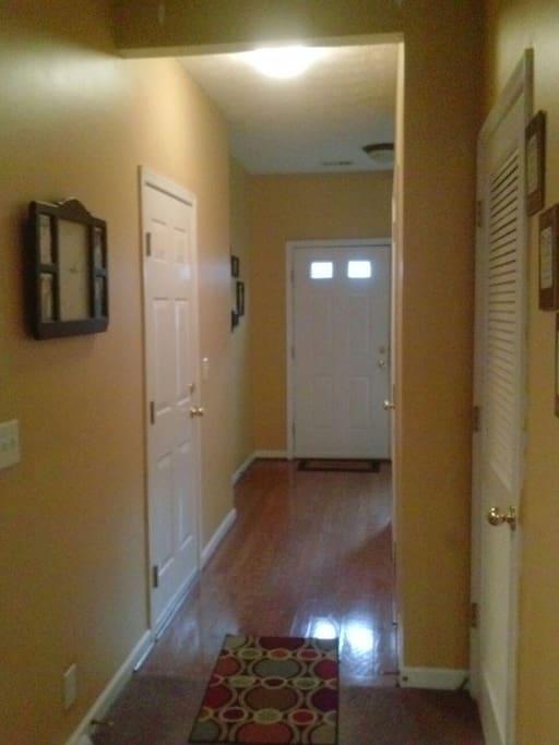 Hallway and foyer