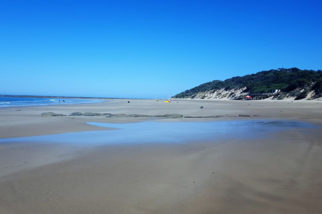 A choice of beaches for experienced and non experienced swimmers.