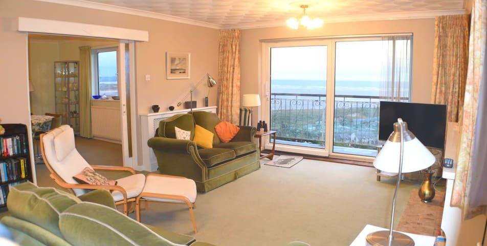 Grand seaside retreat with perfect balcony views
