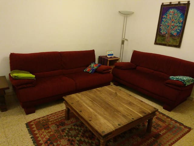 Ramat Gan 2-BR with covered patio.