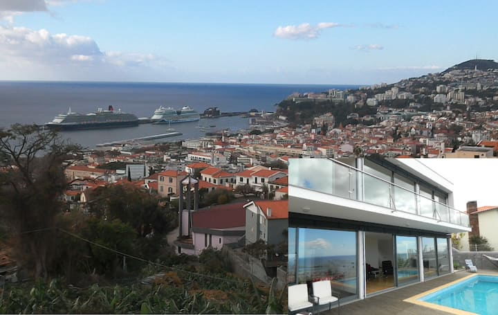 Best views of Funchal. 3 bedrooms and Heated Pool.