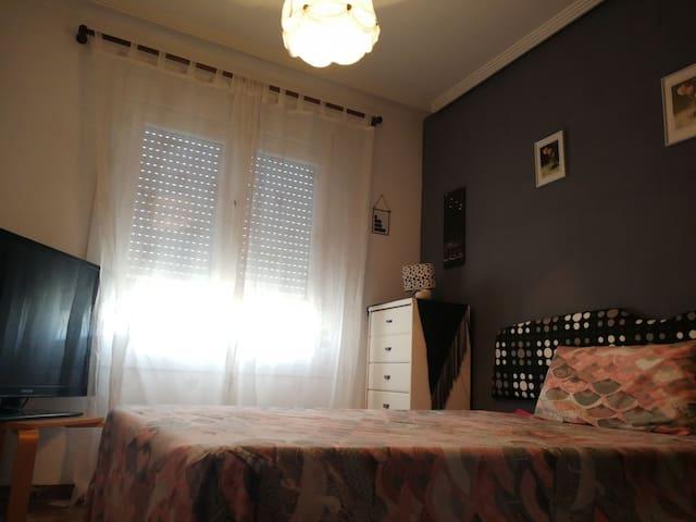 Hab y baño privado en piso espectacular