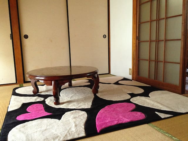 Winter version of the Japanese-style living room.