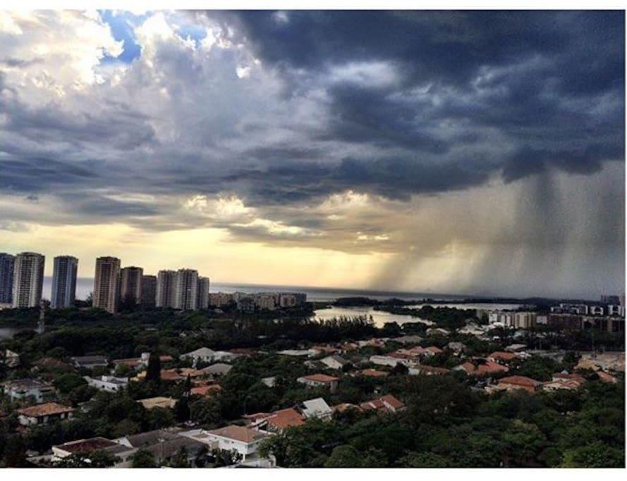 Chuva de Verão! Vista da Janela.