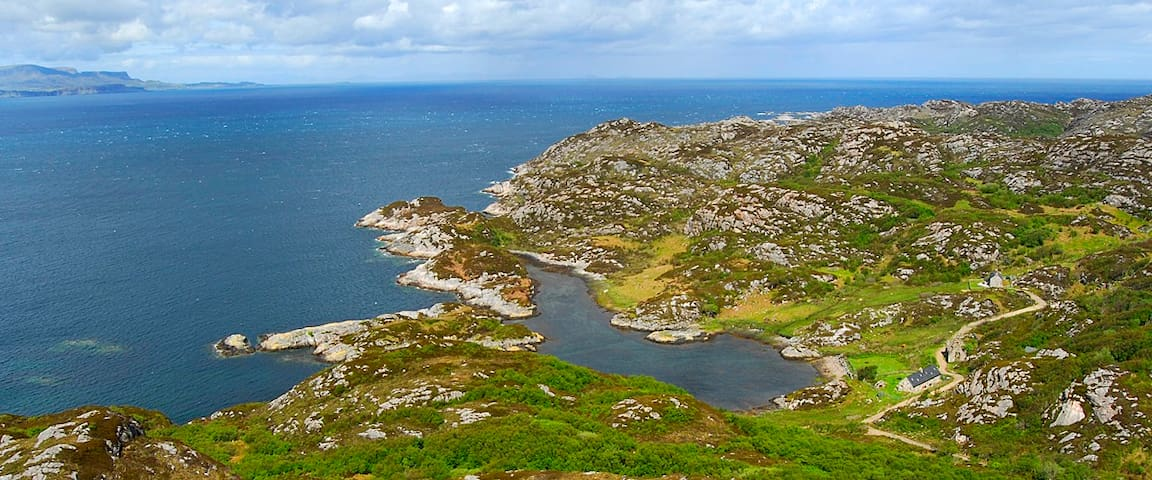 Remote cottages on the Isle of Rona