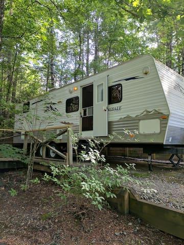 Fun Travel Trailer at Unicoi Springs Camp Resort