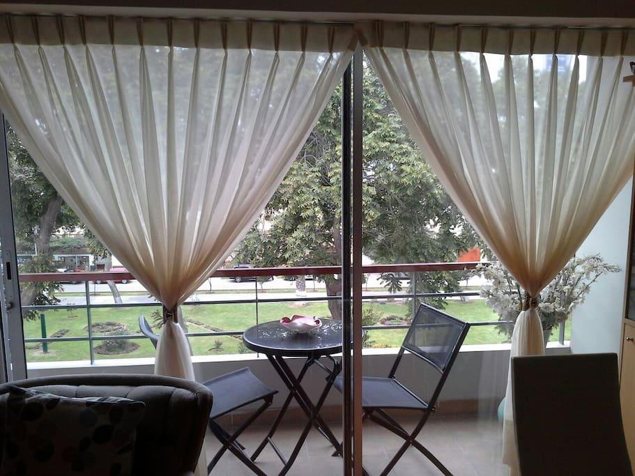 Balcon con vista al parque