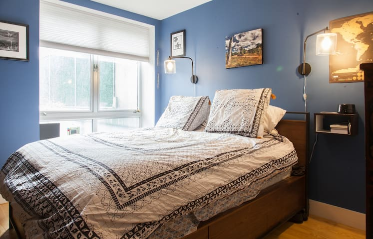 Spacious and well lit master bedroom