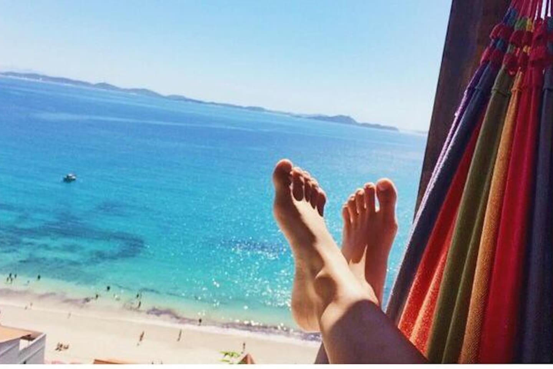 Relaxando no paraíso
