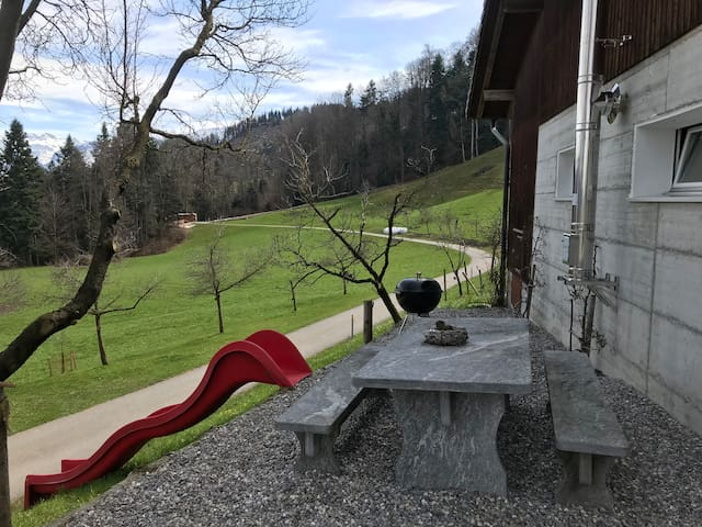 contemporary farmhouse with a beautiful view, kriens