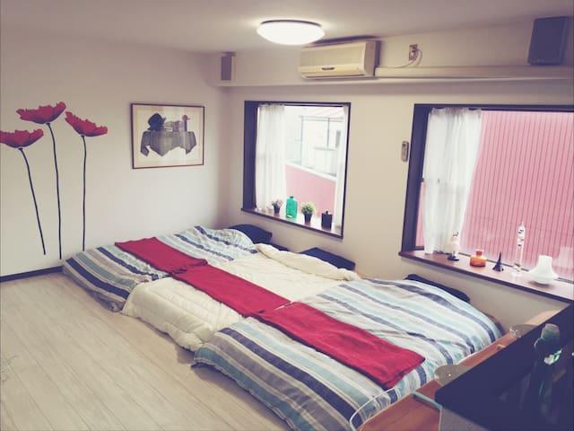 Namba!! 5min!! free WIFI!! 9pax PRIVATE - Naniwa-ku, Ōsaka-shi - Wohnung