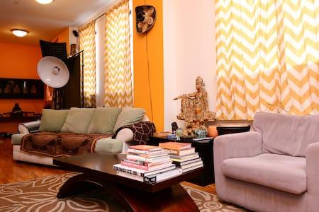 Peaceful bedroom in Crown Heights Duplex