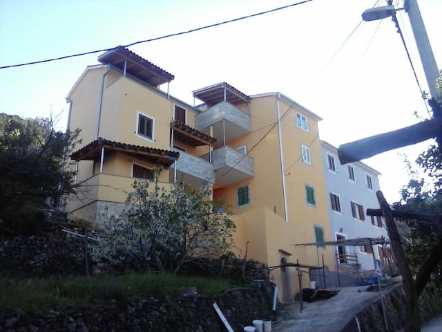 One bedroom apartment with balcony and sea view Valun (Cres) (A-8086-b)