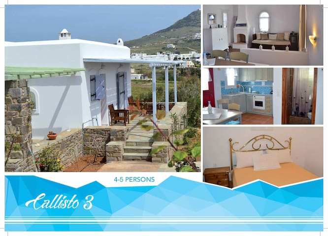 """Callisto 3"" House in Paros island - Marpissa"