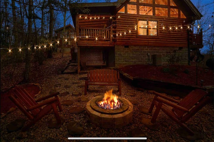 Great location with game room and epic fire pit