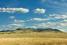 Amazing view of the Bears Paw Mountains from just a few feet away from your door.