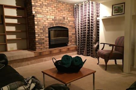 New Basement Suite with fireplace - Saskatoon
