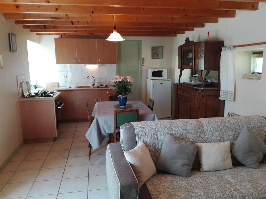 Séjour salon cuisine 23 m2