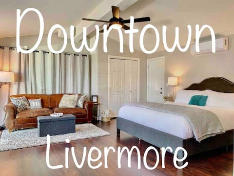 Cozy DOWNTOWN Livermore Studio *KING BED* Sleeps 4