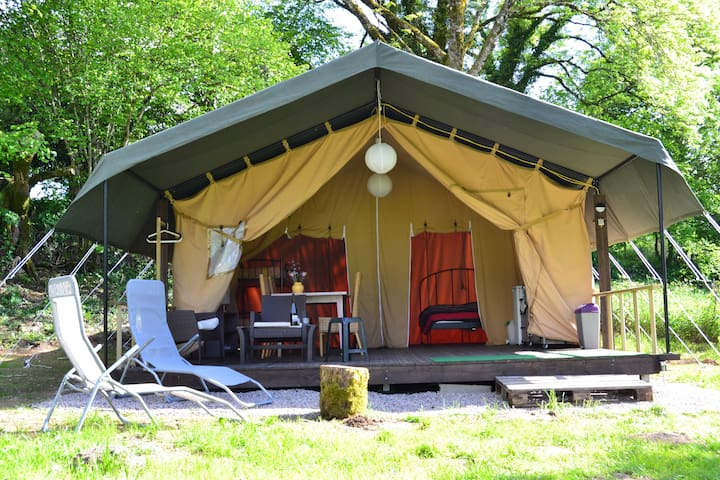 Location Safari Lodge Tent Ambiance Morvan - Ouroux-en-Morvan - Barraca