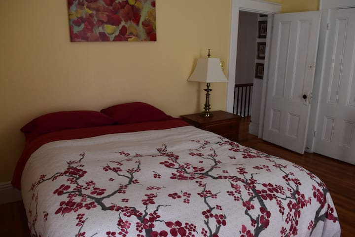 Cozy, colorful room in Dowtown Davis Square!