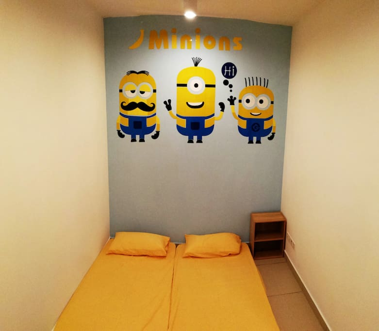 +1 bedrooms come with Minion Themes