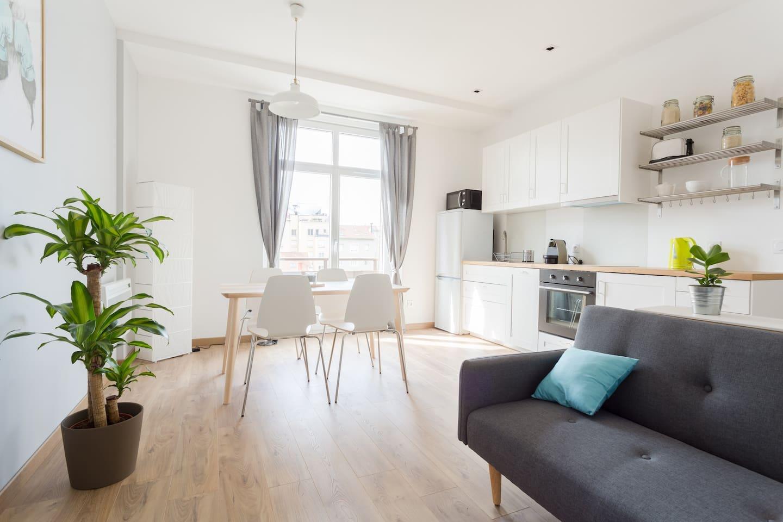 Venez passer un bon moment dans un appartement entièrement équipé