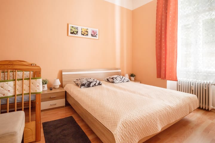 Two-bedroom apt.5 min from kolonada