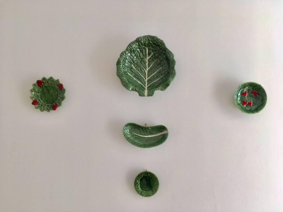 Detalhes com cerâmicas tradicionais Portuguesas