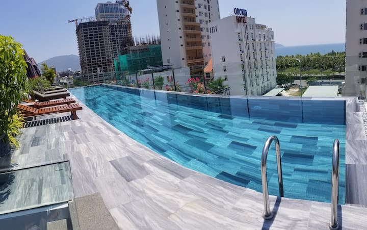 Infinity Pool*City View*Balcony - Sekong Apartment