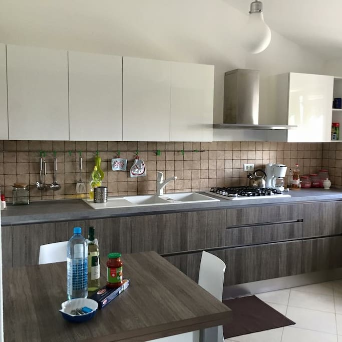 Modern Italian fully equipped kitchen