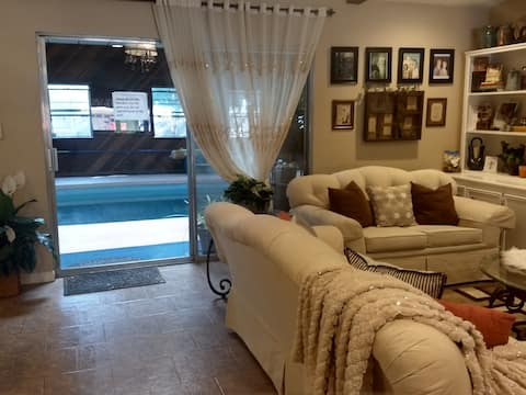 Executive Home with heated Indoor Pool
