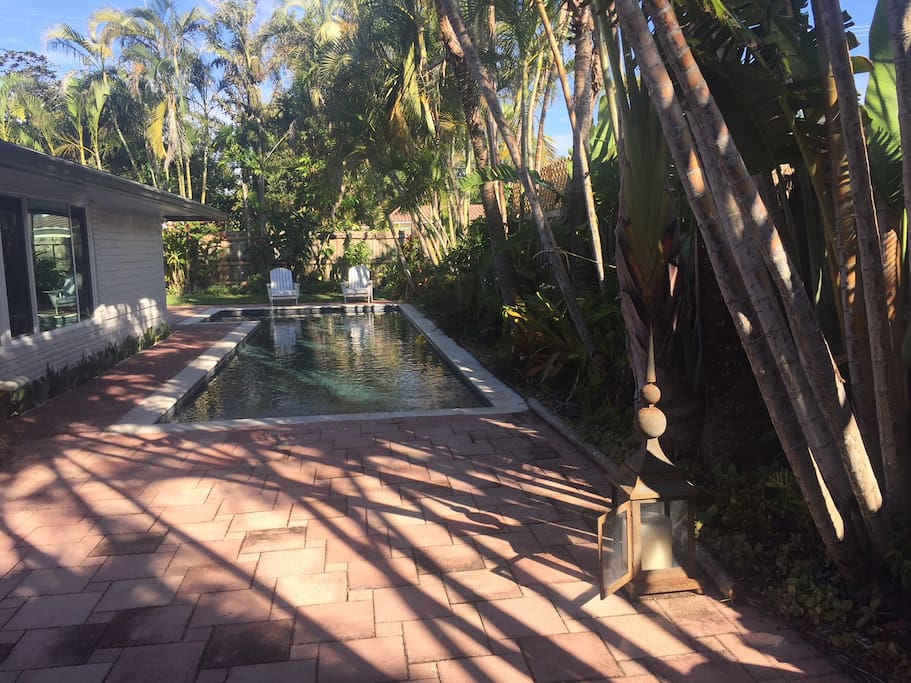 Imagine swimming in the beautiful large lap pool and enjoy the tropical scenery