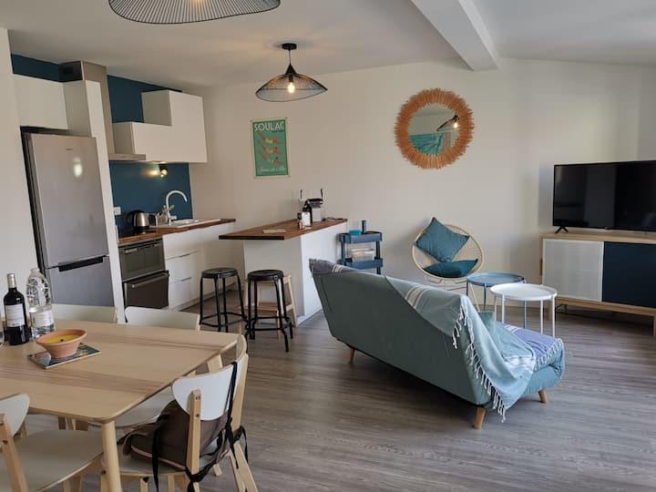 Appt T3  + terrasse de 15 m2 au cœur de Soulac
