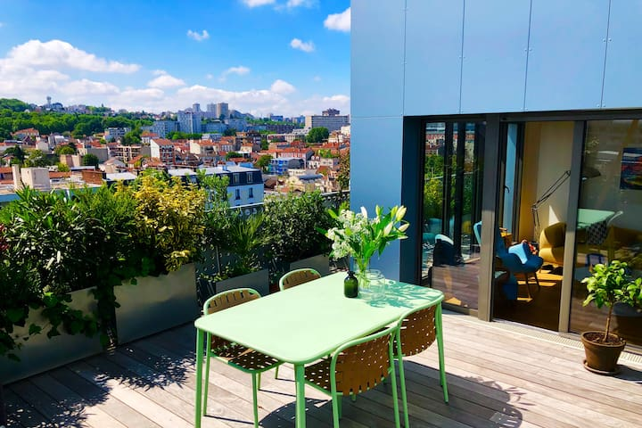 Family LOFT PENTHOUSE -  terrace - 15' from PARIS