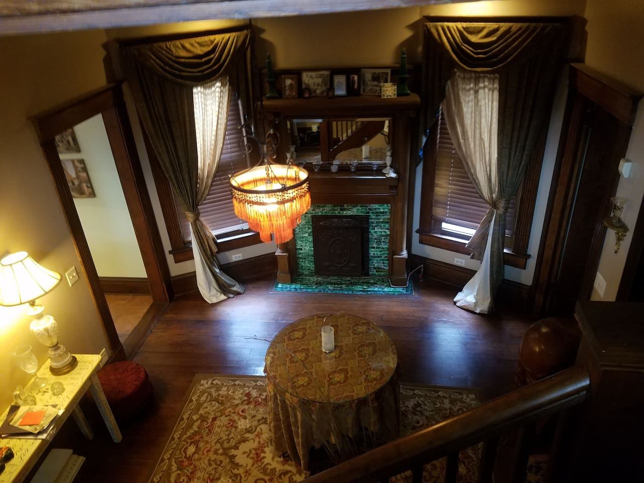 The view when you're heading upstairs.